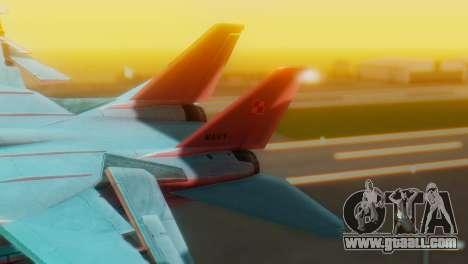 F-14A Tomcat Marynarka Wojenna RP for GTA San Andreas back left view