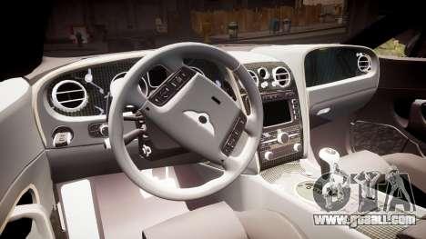 Bentley Continental GT Platinum Motorsports for GTA 4 inner view