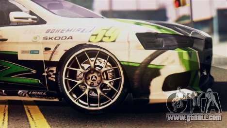 Mitsubishi Lancer Evo X 2011 Rally Bohemia for GTA San Andreas back view