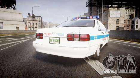 Chevrolet Caprice Chicago Police [ELS] for GTA 4 back left view