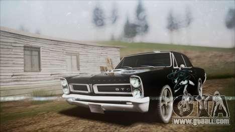 Pontiac GTO Black Rock Shooter for GTA San Andreas