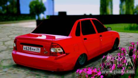 Lada 2170 Priora Spartak Moscow for GTA San Andreas back left view