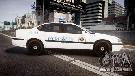 Chevrolet Impala Metropolitan Police [ELS] Traf for GTA 4 left view