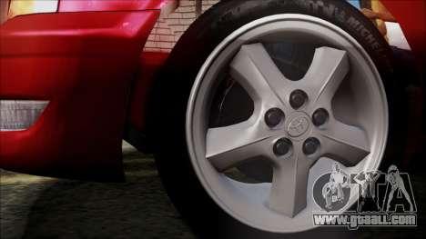 Toyota Chasher Tourer V for GTA San Andreas back left view