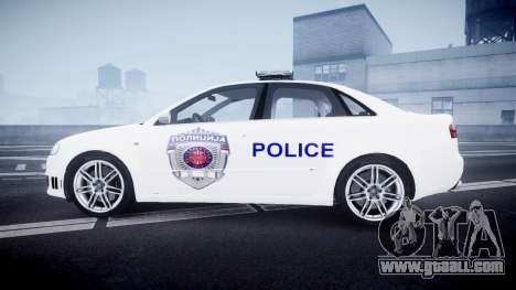 Audi RS4 Serbian Police [ELS] for GTA 4 left view