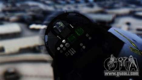 F-14D Super Tomcat Halloween Pumpkin for GTA San Andreas back view