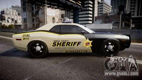 Dodge Challenger MCSO [ELS] for GTA 4 left view