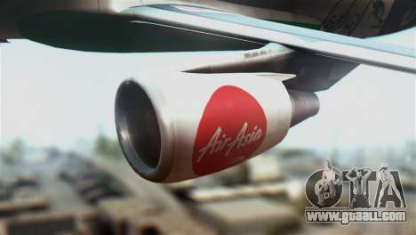Airbus A320-200 AirAsia Line for GTA San Andreas right view