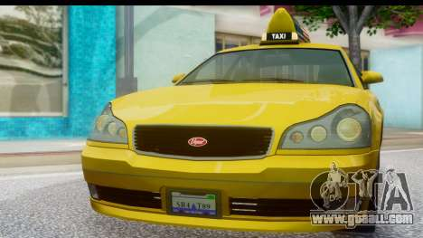 New Taxi for GTA San Andreas back left view