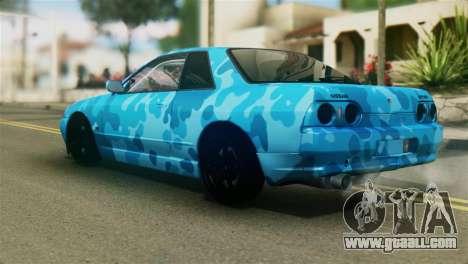 Nissan Skyline R32 Camo Drift for GTA San Andreas left view