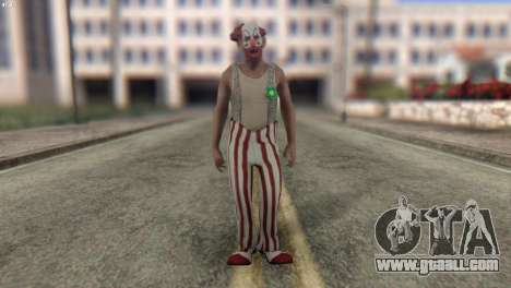 Clown Skin from Left 4 Dead 2 for GTA San Andreas