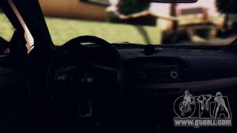 Mitsubishi Lancer Evo X 2011 Rally Bohemia for GTA San Andreas inner view