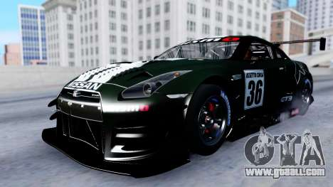 Nissan GT-R (R35) GT3 2012 PJ2 for GTA San Andreas side view
