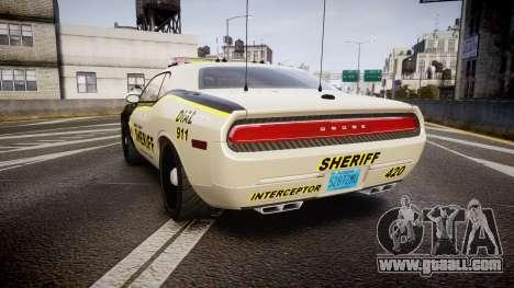 Dodge Challenger MCSO [ELS] for GTA 4 back left view