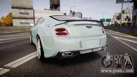 Bentley Continental GT Platinum Motorsports for GTA 4 back left view
