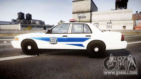 Ford Crown Victoria Indiana State Police [ELS] for GTA 4 left view