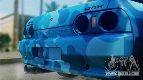 Nissan Skyline R32 Camo Drift for GTA San Andreas back view