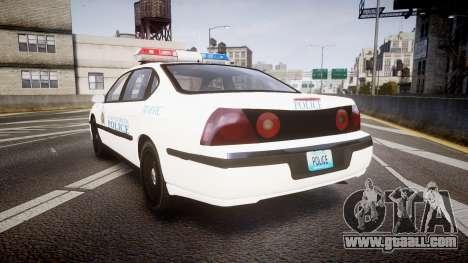 Chevrolet Impala Metropolitan Police [ELS] Traf for GTA 4 back left view