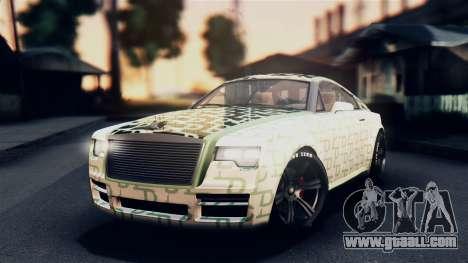 GTA 5 Enus Windsor IVF for GTA San Andreas upper view