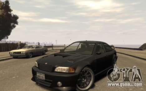 Supremacy Sentinel (XS) 4-door for GTA 4 back left view