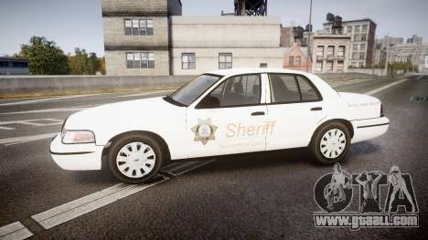 Ford Crown Victoria Sacramento Sheriff [ELS] for GTA 4 left view