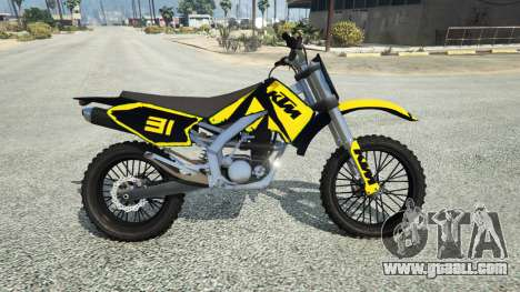 GTA 5 Maibatsu Sanchez Yamaha-KTM-Monster Energy left side view