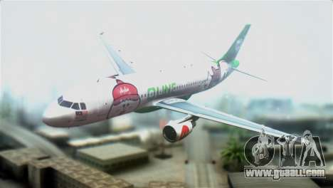 Airbus A320-200 AirAsia Line for GTA San Andreas
