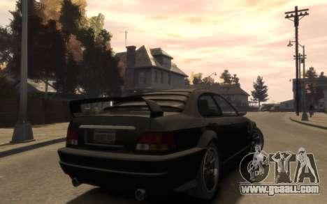 Supremacy Sentinel (XS) 4-door for GTA 4 back view