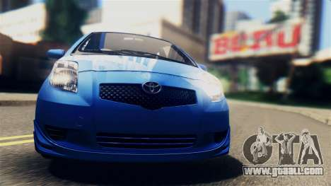 Toyota Yaris S 2008 for GTA San Andreas back left view