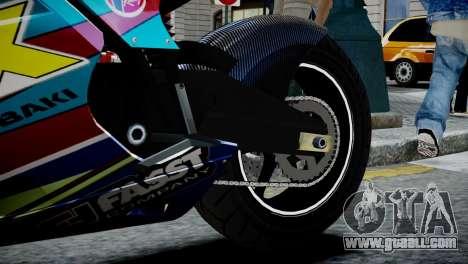 Bike Bati 2 HD Skin 2 for GTA 4 back view