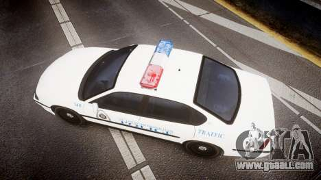Chevrolet Impala Metropolitan Police [ELS] Traf for GTA 4 right view