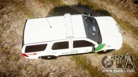 Chevrolet Tahoe Niagara Falls Parks Police [ELS] for GTA 4 right view