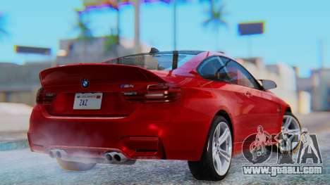 BMW M4 2015 HQLM for GTA San Andreas left view