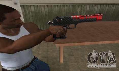 Red Tiger Deagle for GTA San Andreas