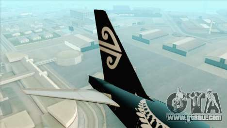 B777-200ER Air New Zealand Black Tail Livery for GTA San Andreas back left view
