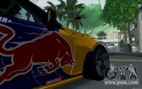 Toyota GT86 Red Bull for GTA San Andreas back view
