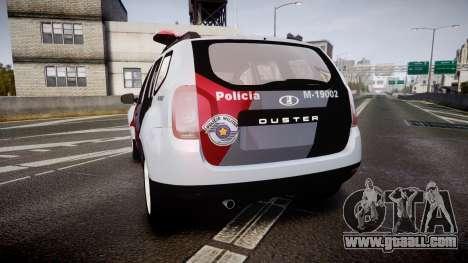 Lada Duster 2015 PMESP [ELS] for GTA 4 back left view