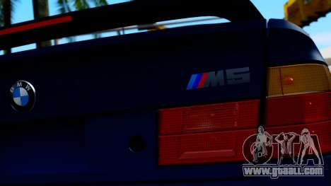 BMW M5 E34 Gradient for GTA San Andreas back view