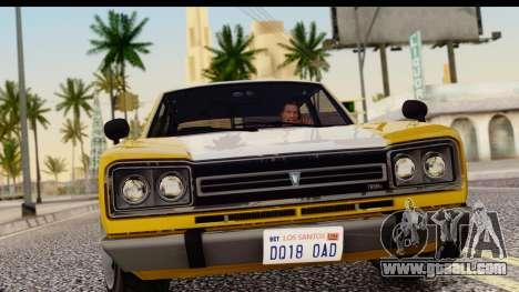 GTA 5 Vulcar Warrener SA Style for GTA San Andreas back left view