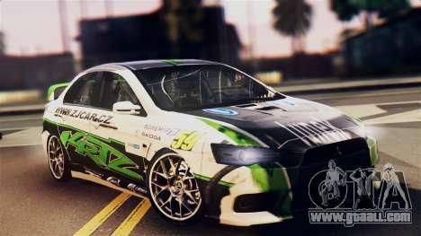 Mitsubishi Lancer Evo X 2011 Rally Bohemia for GTA San Andreas