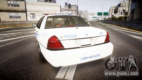 Ford Crown Victoria CNPS [ELS] for GTA 4 back left view