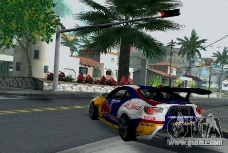 Toyota GT86 Red Bull for GTA San Andreas back left view