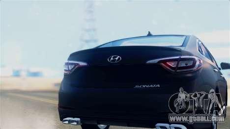 Hyundai Sonata 2015 for GTA San Andreas right view