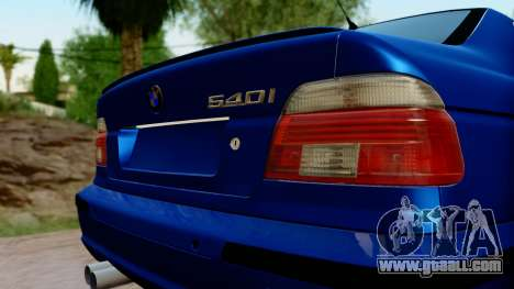 BMW 540i E39 for GTA San Andreas back view