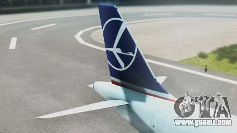 LOT Polish Airlines Boeing 747-400 for GTA San Andreas back left view