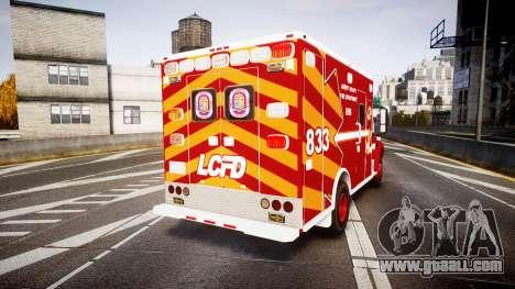 Freightliner M2 2014 Ambulance [ELS] for GTA 4 back left view