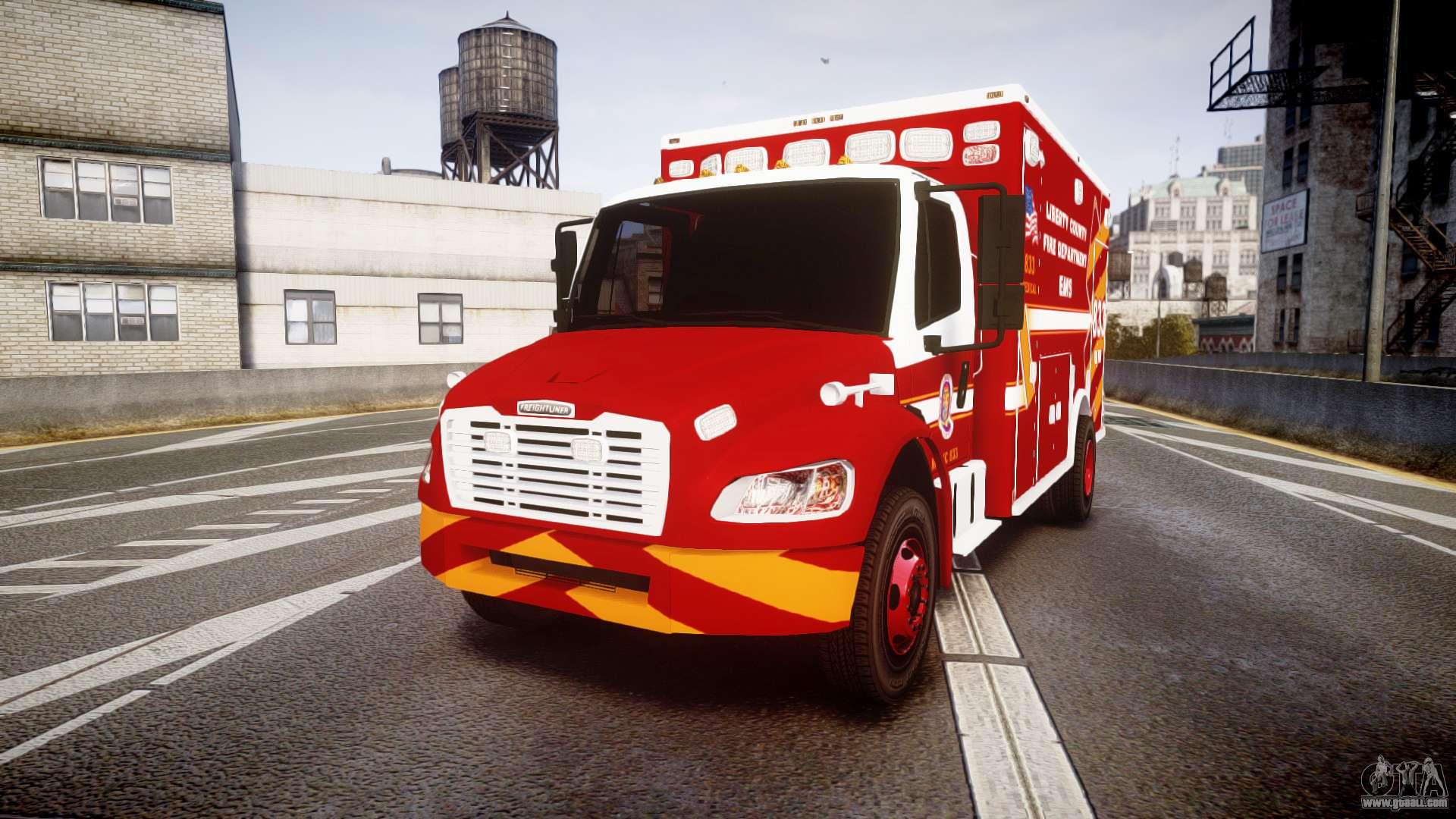 Freightliner M2 2014 Ambulance  Els  For Gta 4