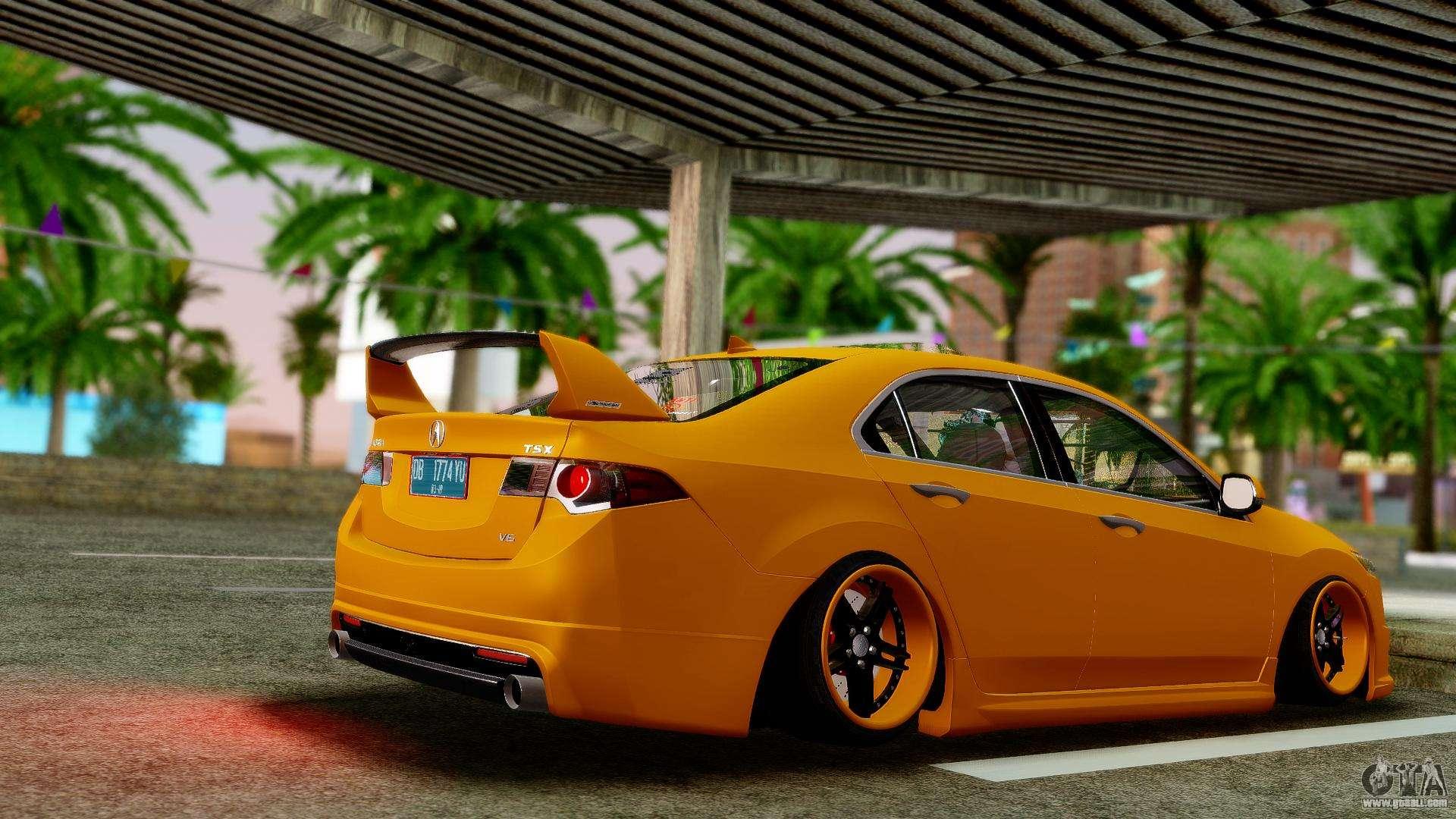 Acura TSX Hellaflush For GTA San Andreas - Acura tsx mods
