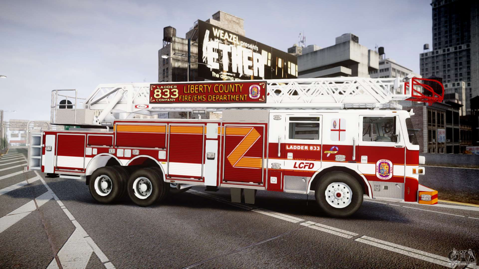 Pierce Arrow XT Ladder 2013 [ELS] for GTA 4