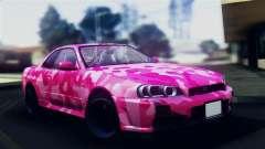 Nissan Skyline R34 Camo Drift for GTA San Andreas